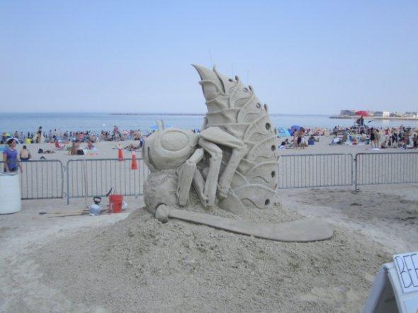 Бостон:Фестиваль песчаных скульптур