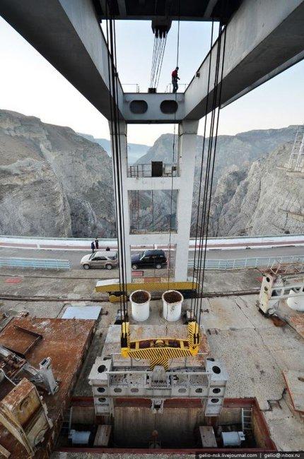 Чиркейская ГЭС - самая высокая арочная плотина в России