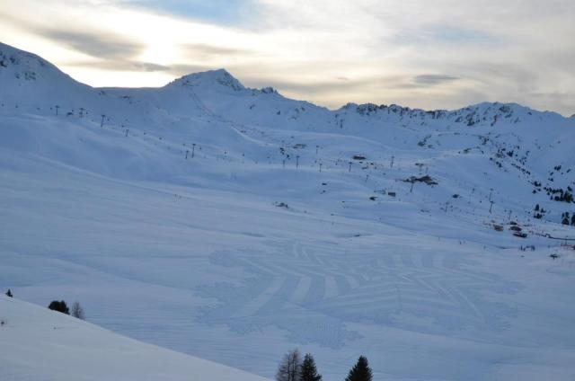 Узоры на снегу от Симона Бека