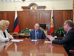 Владимир Путин провёл встречу с Председателем Счётной палаты Татьяной Голиковой и Сергеем Степашиным