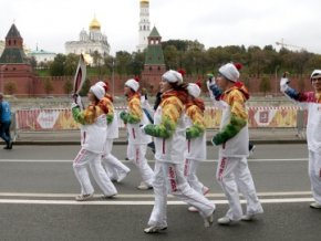 Стартовал второй день московского этапа эстафеты олимпийского огня Сочи-2014