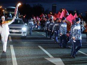 Олимпийский огонь завершает турне по Москве