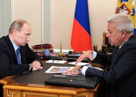 Владимир Путин встретился с главой компании Лукойл Вагитом Алекперовым
