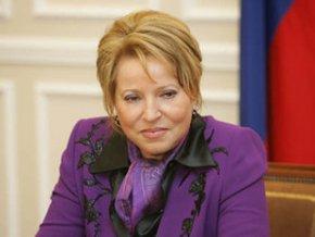 В.Матвиенко: Необходимо повышать активность регионов в формировании рынка интеллектуальной собственности