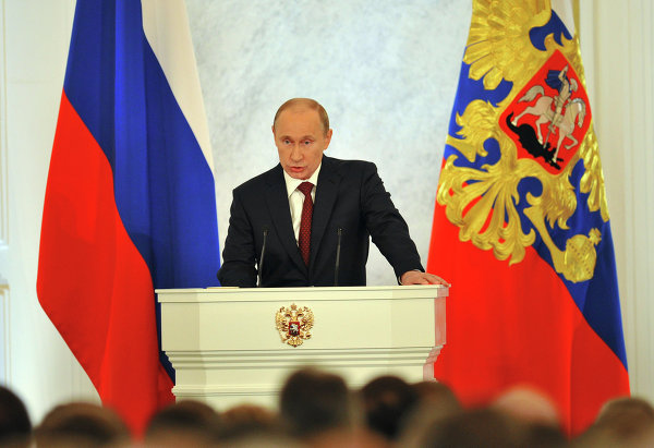 Владимир Путин: реальный государственный суверенитет – абсолютно необходимое условие для России