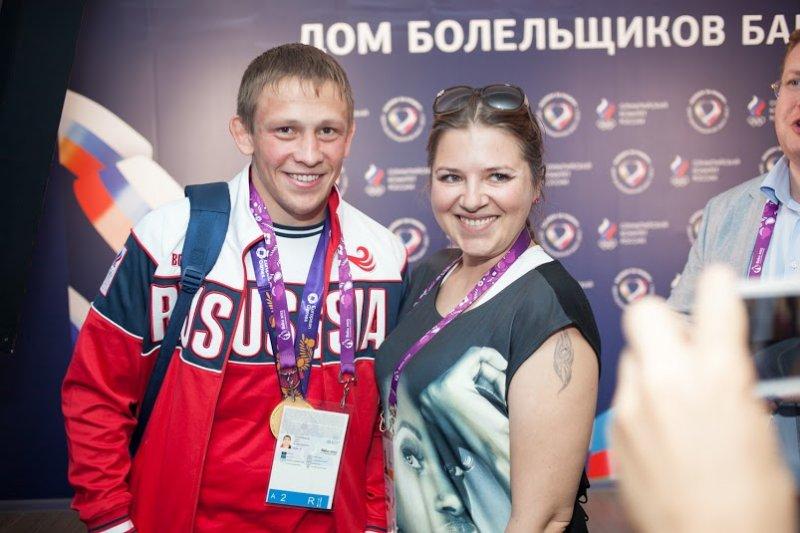 В Доме Болельщиков  «Баку-2015» чествовали первых российских победителей Европейских игр
