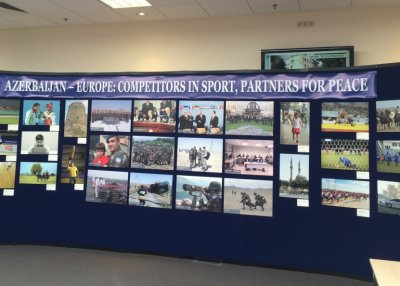 В штаб-квартире НАТО прошла фотовыставка, посвященная Евроиграм в Баку