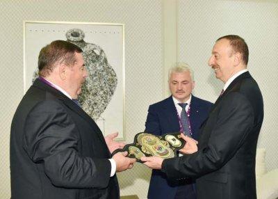 Ильхаму Алиеву вручили чемпионский пояс