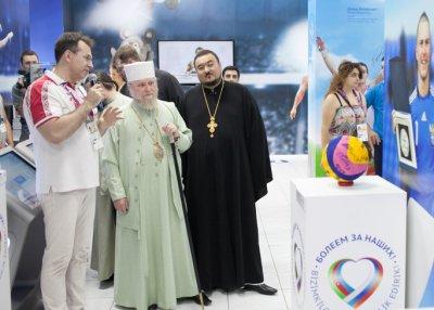 Архиепископ Бакинский и Азербайджанский Александр высоко оценил Дом болельщиков России и Азербайджана